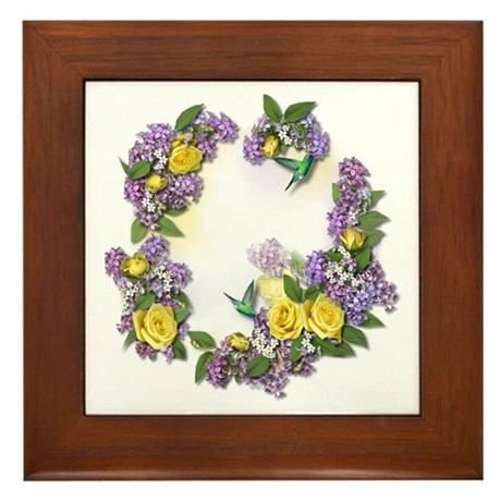 Lilacs & Yellow Roses Framed Tile