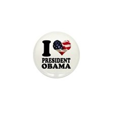 I love President Obama Mini Button (10 pack)