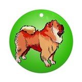 Chow Chow Green Keepsake (Round)