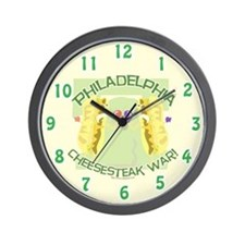 Philly Cheesesteak War Wall Clock
