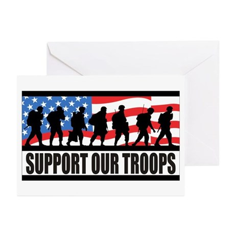 Support Our Troops! Greeting Cards (Pk of 10)