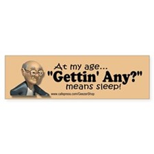 Gettin Any? Sticker (Bumper Sticker)