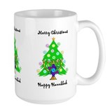 Hanukkah and Christmas Interfaith Ceramic Mugs