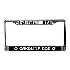 My Best Friend is a Carolina Dog License Frame