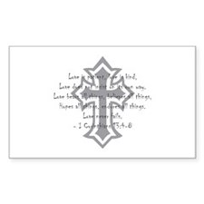 1 corinthians love is patient Rectangle Sticker 1