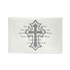 1 corinthians love is patient Rectangle Magnet (10