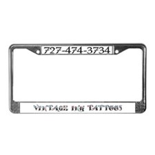 Vintage Ink License Plate Frame