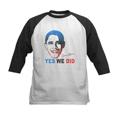 Yes We Did T-Shirt Kids Baseball Jersey