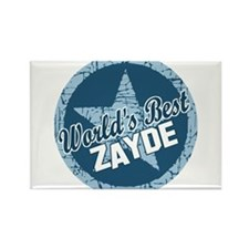 Worlds Best Zayde Rectangle Magnet