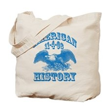 Obama Wins Makes History Tote Bag