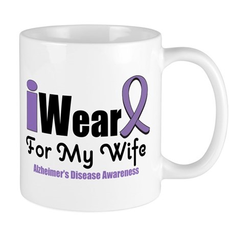 I Wear Purple (Wife) Mug