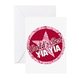 Worlds Best Yia Yia Greeting Cards (Pk of 10)