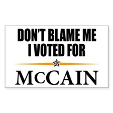 I Voted for McCain Rectangle Decal