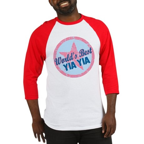 Worlds Best Yia Yia Baseball Jersey