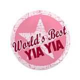 "Worlds Best Yia Yia 3.5"" Button (100 pack)"