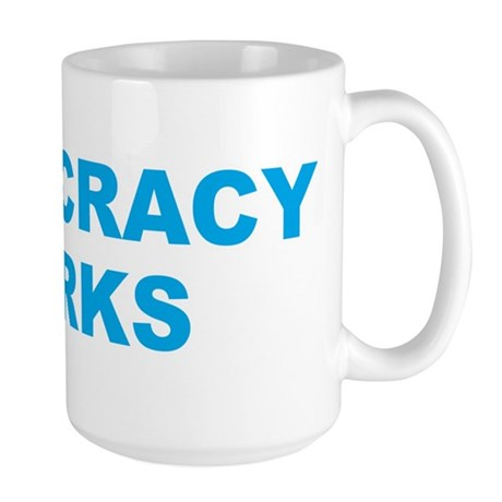 Democracy Works (Obama) Large Mug