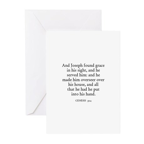 GENESIS 39:4 Greeting Cards (Pk of 10)