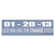 1 20 13 God Willing Change En Bumper Sticker