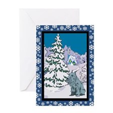 Winter Wonderland Schnauzer Greeting Card