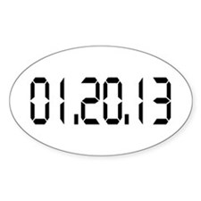 01.20.13 Oval Sticker (10 pk)