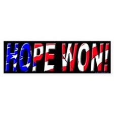 Hope Won Bumper Bumper Sticker
