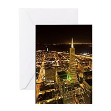 Transamerica Pyramid and Coit Greeting Card