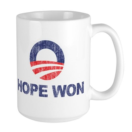 Hope Won (Obama) Large Mug