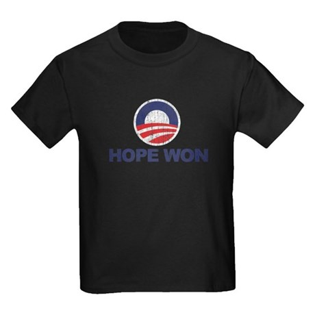 Hope Won (Obama) Kids Dark T-Shirt