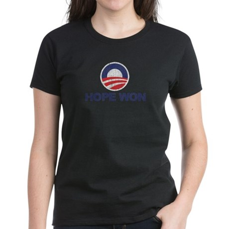 Hope Won (Obama) Women's Dark T-Shirt