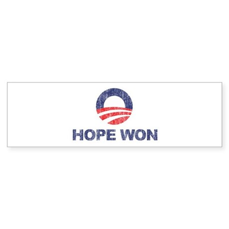 Hope Won (Obama) Bumper Sticker
