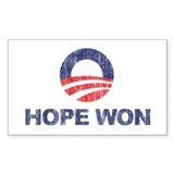 Hope Won (Obama) Rectangle Decal