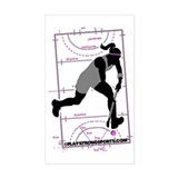 Field Hockey Girl Rectangle Decal