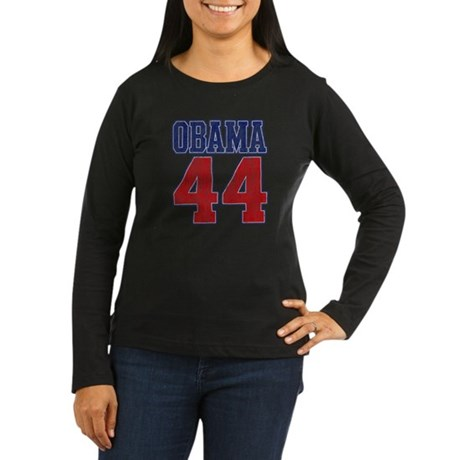 Obama 44th President (vintage Women's Long Sleeve