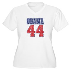 Obama 44th President (vintage Women's Plus Size V-