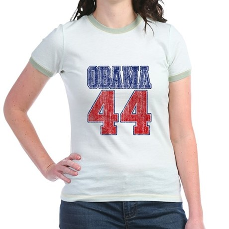 Obama 44th President (vintage Jr. Ringer T-Shirt