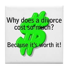 Tile Coaster-Divorce