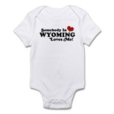 Somebody in Wyoming Loves Me Infant Bodysuit