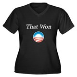 That Won: Women's Plus Size V-Neck Dark T-Shirt