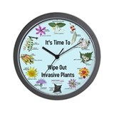 Invasive Plants Wall Clock