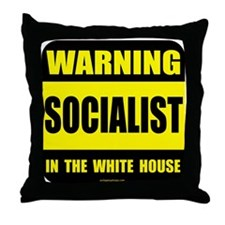 Socialist obama in white house Throw Pillow