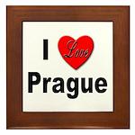 I Love Prague Framed Tile