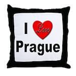 I Love Prague Throw Pillow