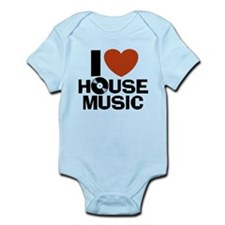 I Love House Music Onesie