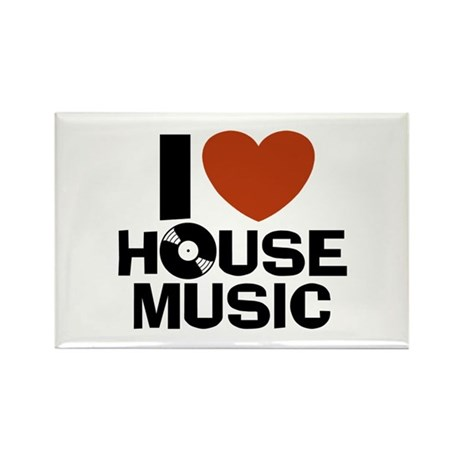 I Love House Music Rectangle Magnet
