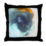 Cat Lover? Blue Persian Throw Pillow