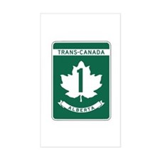 Trans-Canada Highway, Alberta Rectangle Decal
