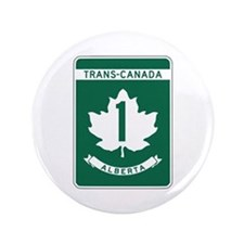 "Trans-Canada Highway, Alberta 3.5"" Button"