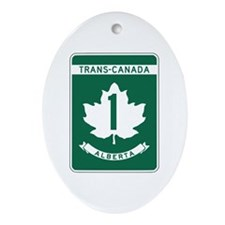 Trans-Canada Highway, Alberta Oval Ornament