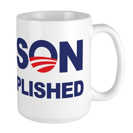 Mission Accomplished (Obama) Large Mug