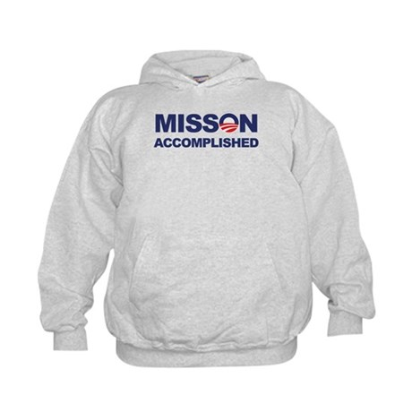 Mission Accomplished (Obama) Kids Hoodie